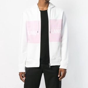 NWT Helmut Lang Pink & White Zip Up